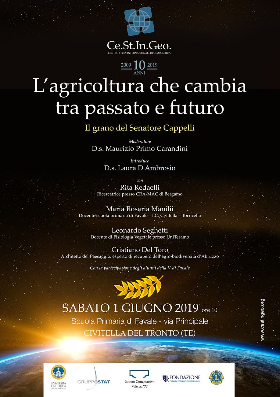 locandina L'agricoltura che cambia tra passato e futuro - il grano del senatore Cappelli