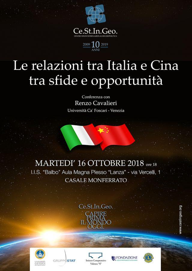 locandina Le relazioni tra Italia e Cina tra sfide e opportunità