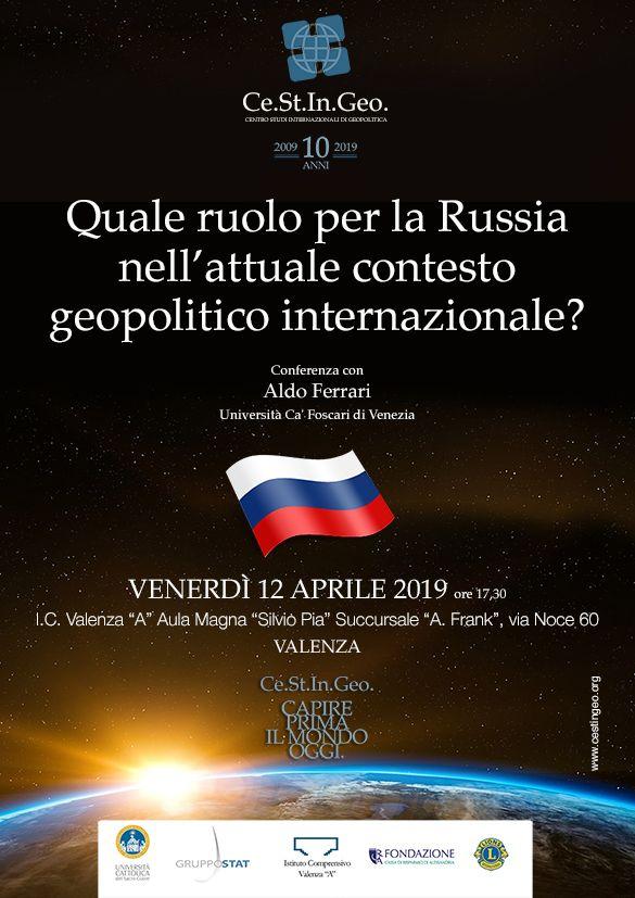 locandina Quale ruolo per la Russia nell'attuale contesto geopolitico internazionale?